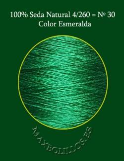 100% Seda Esmeralda Nº 30