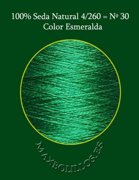 Seda Verde Esmeralda Nº 30