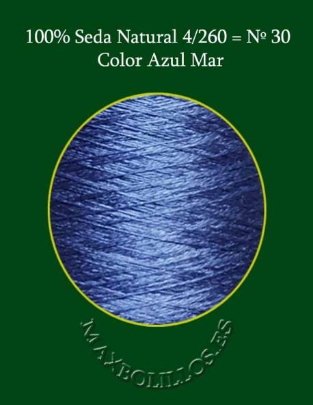 Seda Azul Mar Nº 30