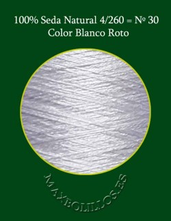 100% Seda Blanco Roto Nº 30