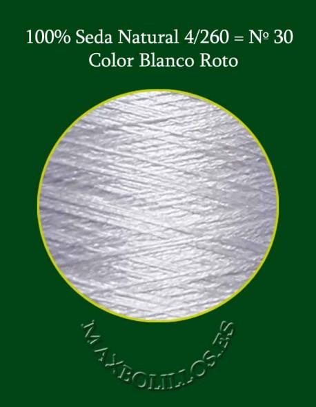 Seda Blanco Roto Nº 30