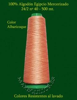 Algodón Egipcio Albaricoque nº 40