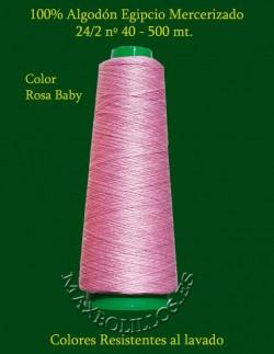 Algodón Egipcio Rosa Baby nº 40