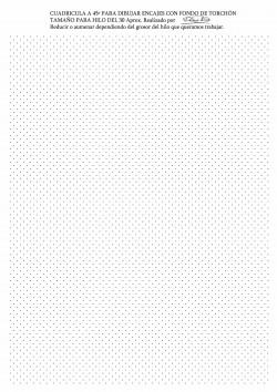 Fondo para diseñar Encajes de Torchón