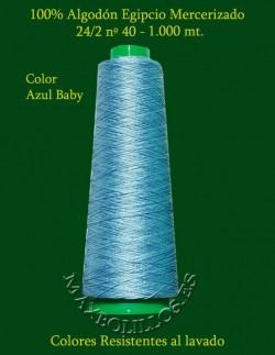 Algodón Egipcio Azul Baby nº 40
