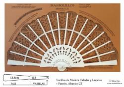 Varillas Madera Lacada+Patrón 22