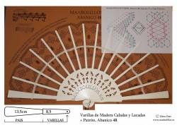 Varillas Madera Lacada+Patrón 48