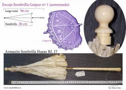 Armazón Sombrilla Hueso Rf: 17