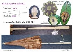 Armazón Sombrilla Marfil Rf: 30