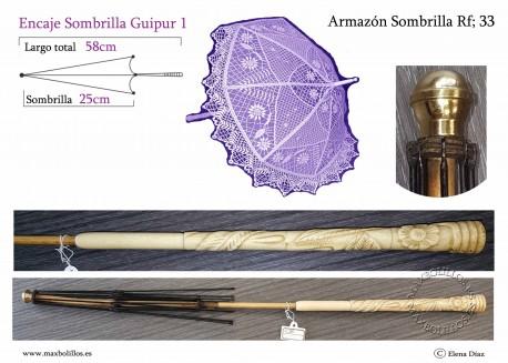 Armazón Sombrilla Hueso Rf: 33