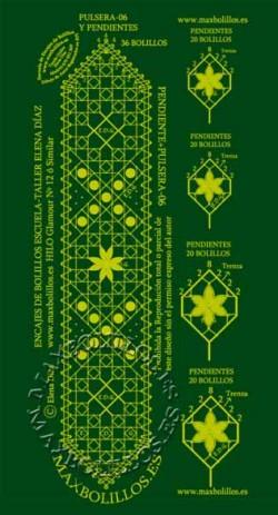 Picado Pulsera 6 con Pendientes (oferta)