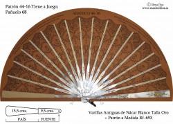 Varillas Abanico 693 Nácar Tallado Autentico