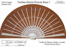 Varillas+Patrón Pericón Ruso 1 Blanco