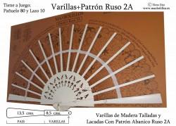 Varillas Madera Lacada+Patrón Ruso 2A Blancas