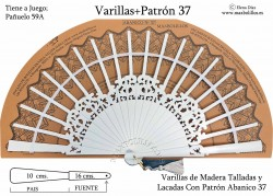 Varillas Madera Lacada+Patrón 37 Blancas