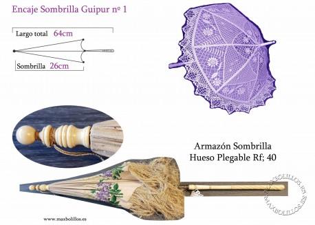 Armazón Sombrilla Hueso Plegable Rf: 40