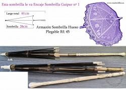 Armazón Sombrilla Hueso Plegable Rf: 45