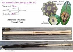 Armazón Sombrilla Hueso Rf: 46
