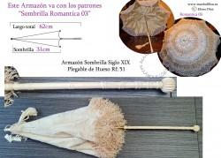 Armazón Sombrilla Hueso Plegable Rf: 51