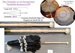 Armazón Sombrilla Marfil Plegable Rf: 52