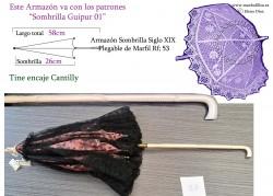 Armazón Sombrilla Marfil Plegable Rf: 53