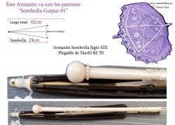 Armazón Sombrilla Marfil Plegable Rf: 55