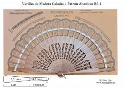 Varillas Abanico 04 Madera